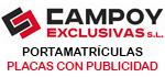 Recambios Alguazas : Portamatrículas - Placas con publicidad