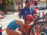 """Un total de 16 escolares de los colegios """"Tierno Galván"""" y """"Reina Sofía"""" participan en la final regional escolar de triatlón, celebrada en Jumilla"""