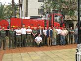 El concejal de Seguridad Ciudadana asiste a la presentación de un nuevo vehículo forestal en la vecina localidad de Alhama