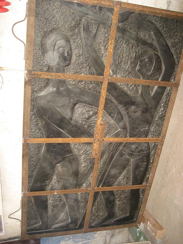 El antiguo mural de mármol negro del Club Remo embellecerá el jardín del Museo de la Ciudad - 1, Foto 1