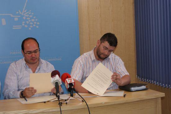 El presidente de la Agrupación Astronómica de la Región y el alcalde de Puerto Lumbreras firman un convenio para la gestión del Observatorio Astronómico - 1, Foto 1