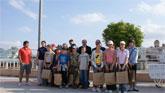 El Alcalde y el Cónsul de Polonia en la Región de Murcia reciben a un grupo de 15 jóvenes polacos en Puerto Lumbreras.