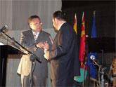 Entrega de la I Medalla de Oro de Inserción al Alcalde de Molina de Segura, Eduardo Contreras Linares