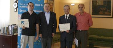 Los ganadores del I Concurso CTPedia reciben su premio