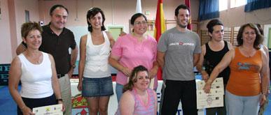 Clausuran el curso de tenis de mesa dirigido a mujeres mayores de 30 años del municipio