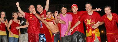 Cerca de 15.000 murcianos celebran la Eurocopa en la Plaza Circular