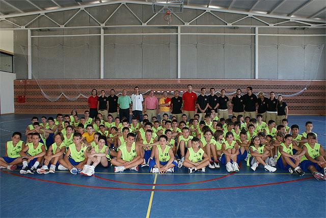 Autoridades municipales se reúnen con los alumnos del III Campus de perfeccionamiento y tecnificación Felipe Coello y Quini García celebrado en Puerto Lumbreras - 1, Foto 1