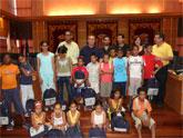 Recepción del alcalde de Molina de Segura a los niños saharauis que participan en el programa 'Vacaciones en paz'