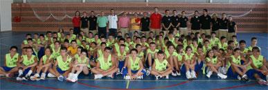 Autoridades municipales se reúnen con los alumnos del III Campus de perfeccionamiento y tecnificación Felipe Coello y Quini García celebrado en Puerto Lumbreras
