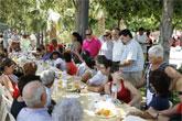 Los lumbrerenses celebran el Día de la Independencia con el tradicional arroz y pavo