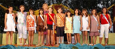 Victoria Bermúdez elegida Reina Infantil 2008 en Puerto Lumbreras