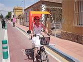 El carril bici del municipio de San Javier ha tenido un enorme éxito en sus primeros días de funcionamiento