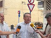 El alcalde ha visitado hoy, miércoles 23 de julio, las obras del barrio Punta del Lugar
