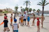 La playa infantil, escenario id�neo para los juegos de los m�s pequeños