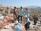 Jóvenes de Europa y Asia participan en el campo de trabajo de arqueología de Cieza