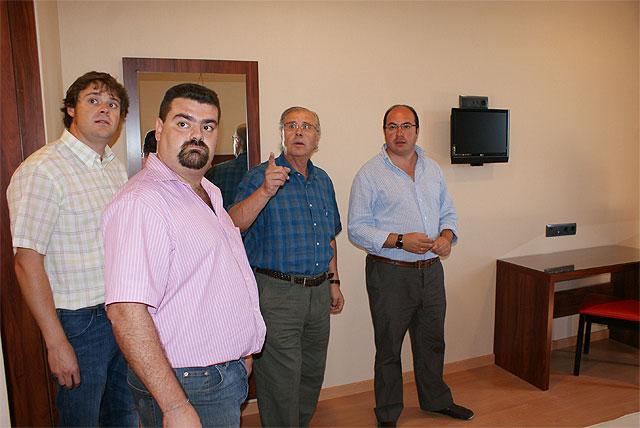 El Alcalde de Puerto Lumbreras visita las obras del nuevo Hotel Riscal - 2, Foto 2