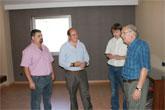 El Alcalde de Puerto Lumbreras visita las obras del nuevo Hotel Riscal