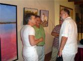 """La exposición """"3 EN UNA. Pinturas"""", reúne obra de tres pintores murcianos que exponen juntos por primera vez en San Javier"""