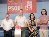 El PSOE de Totana pide 'amparo' a Valcárcel para que resuelva la situación del municipio