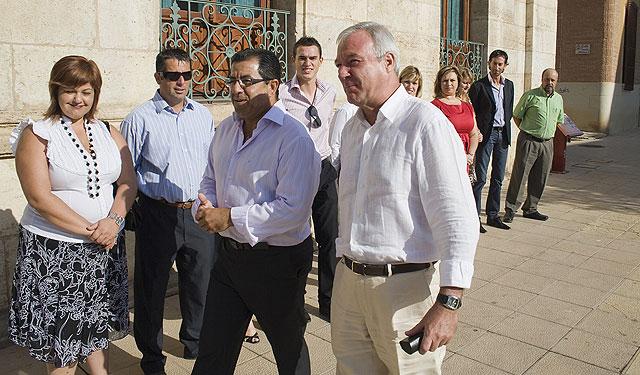 El Gobierno de la Región al completo en Mazarrón, Foto 1