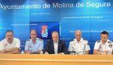 Más de 350 personas velarán por la seguridad y el buen desarrollo de las Fiestas Patronales de Molina de Segura 2008