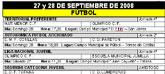 Agenda deportiva fin de semana  27 y 28 de septiembre