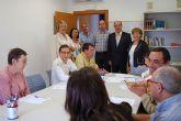 Marisol Morente y Diego Giménez visitan el Centro de Día de AFES en Las Torres de Cotillas