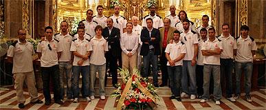 El CB Murcia visita a la Virgen de la Fuensanta