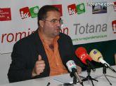 """Seg�n IU, """"el Pleno de Totana, con los votos del PP, abre la puerta a subidas de impuestos y privatizaciones, poniendo de manifiesto la par�lisis del Gobierno Municipal"""""""