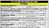 Agenda deportiva fin de semana 11 y 12 de octubre