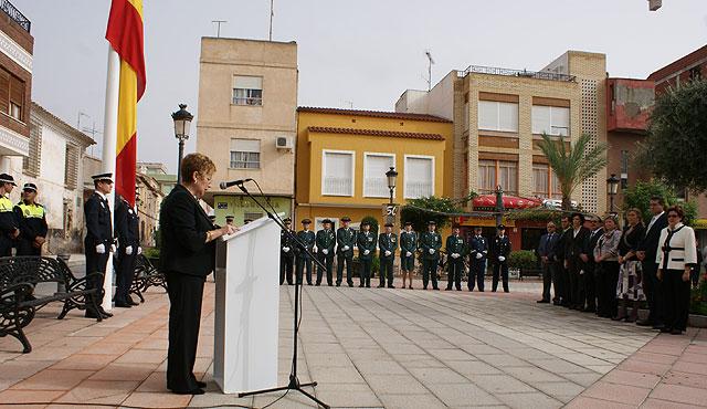 Puerto Lumbreras se suma al acto homenaje de la bandera de España con motivo del Día de la Hispanidad 2008 - 1, Foto 1