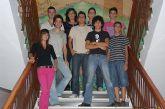 Miembros de la nueva asociación juvenil JOVAL realizan una visita a la concejala de Juventud, Alicia Parejo