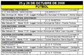Agenda deportiva fin de semana 25 y 26 de octubre