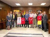Presentación de los tres equipos deportivos locales de categorías absolutas a Alcalde y Concejal de Deportes del Ayuntamiento de Archena