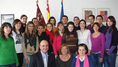 Un grupo de jóvenes de la Región de Murcia visitó en Bruselas las instituciones europeas