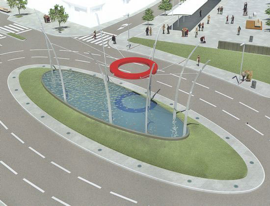 La Comunidad Autónoma financia con 500.000 euros las obras de construcción de la rotonda en la intersección de las avenidas Juan Carlos I y Rambla de La Santa, Foto 1