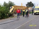 Accidente de circulación en el Camino de los Soldados con 2 heridos muy graves