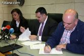 El Ayuntamiento y la Asociaci�n Cruz Roja Española Asamblea Local de Totana suscriben un convenio de colaboraci�n
