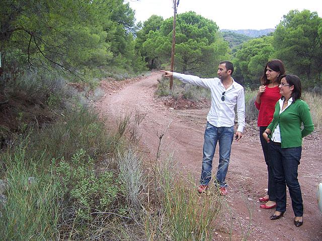 Finalizan las obras de acondicionamiento del itinerario de peregrinaje y senderismo de Totana a La Santa, Foto 1