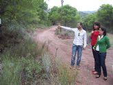 Finalizan las obras de acondicionamiento del itinerario de peregrinaje y senderismo de Totana a La Santa