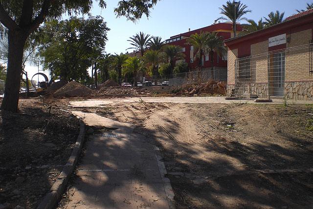 Comienzan las obras para proceder a la reforma del actual jardín de la Cruz Roja de Totana, Foto 3