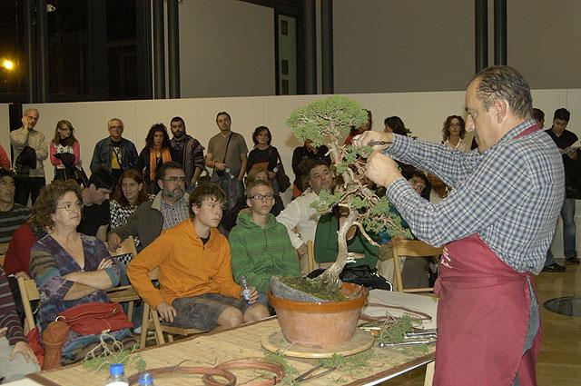 Gran éxito en la demostración práctica de trabajos con bonsái, Foto 1