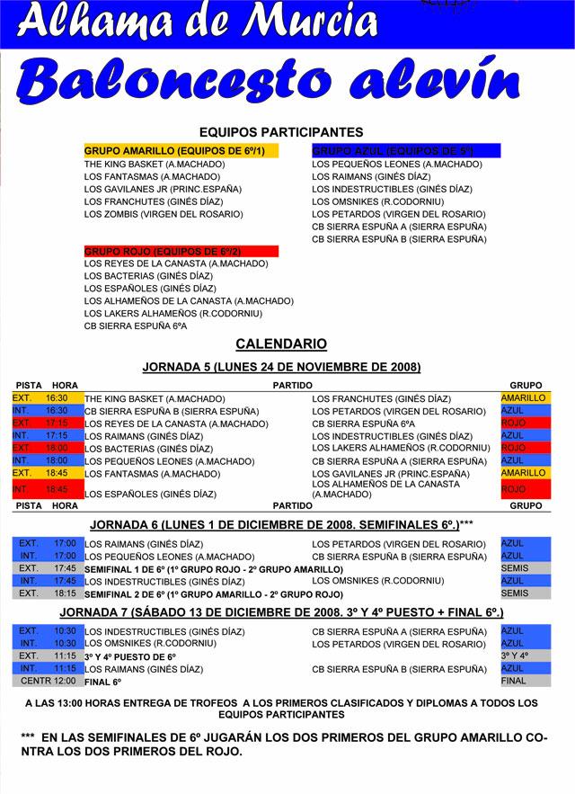 Baloncesto escolar, categoría alevín. Resultados de la primera jornada y calendario de encuentros, Foto 3