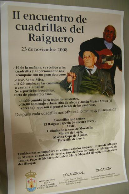"""El Tío Juan Rita"""" y Julián Muñoz Acosta serán homenajeados en el """"II Encuentro de Cuadrillas del Raiguero"""", Foto 5"""