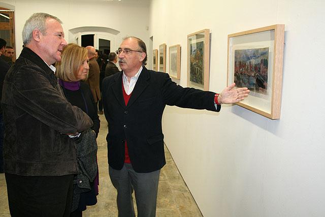 El presidente de la Comunidad inauguró la exposición del pintor Juan Bautista Sanz en Balsicas - 1, Foto 1