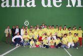 El Alcalde de la localidad acompañado por el Director General de Deportes, Antonio Peñalver, han visitado la pista de front�n del polideportivo 'El Praico' recientemente restaurada