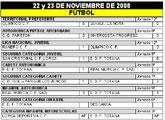Resultados deportivos fin de semana 22 y 23 de noviembre