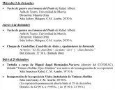 Actividades culturales de la Universidad de Murcia en la semana del 1 al 7 de diciembre