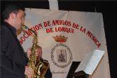 """Un concierto gratuito de saxofones a cargo del grupo local """"Aira"""" tuvo lugar en Lorquí"""