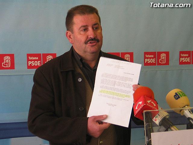 """Andr�s Garc�a: """"se confirman las afirmaciones del PSOE sobre la situaci�n econ�mica del ayuntamiento"""", Foto 1"""